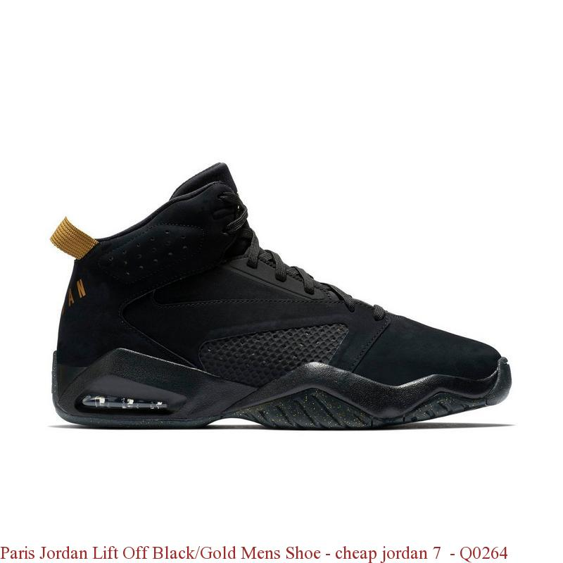factory authentic 921b8 d2b48 Paris Jordan Lift Off Black/Gold Mens Shoe - cheap jordan 7 - Q0264